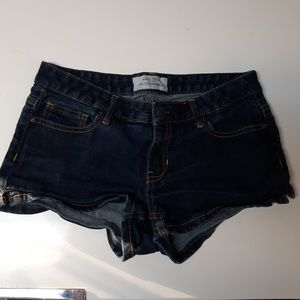 Dark wash Aeropostale cutoff shortie shorts
